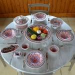 Lot de 6 assiettes Tebsi Bakir rouge - D 23 cm