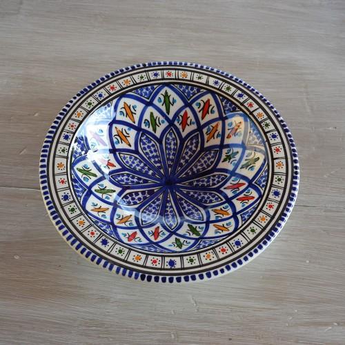 Lot de 6 assiettes Tebsi Jileni bleu - D 23 cm