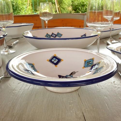 Lot de 6 assiettes Tebsi Sahel bleu - D 23 cm