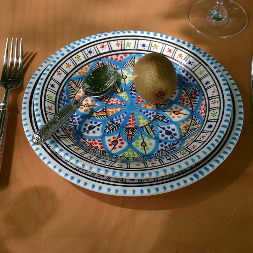 Lot de 6 assiettes à entrée ou dessert Bakir Royal - D 20 cm