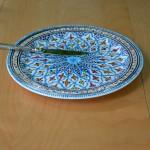 Plat à tarte Bakir turquoise