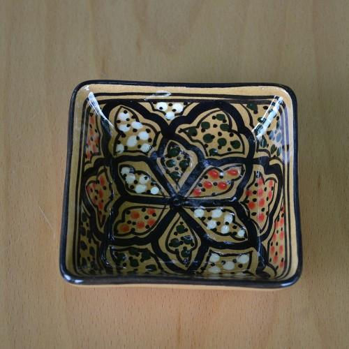 Plat carré Medina miel - L 10 cm