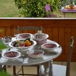 Service à couscous assiettes Tebsi Bakir rouge - 8 pers
