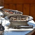 Service à couscous assiettes creuses Marocain noir - 8 pers