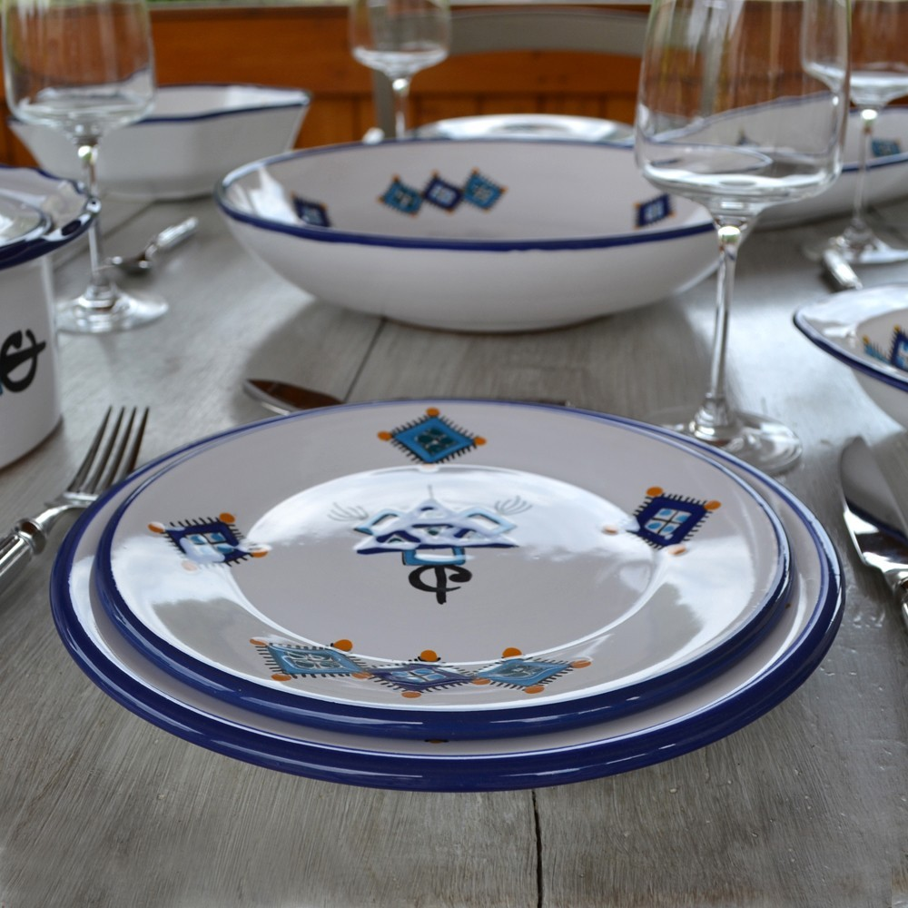 assiette plate sahel bleu d 24 cm. Black Bedroom Furniture Sets. Home Design Ideas