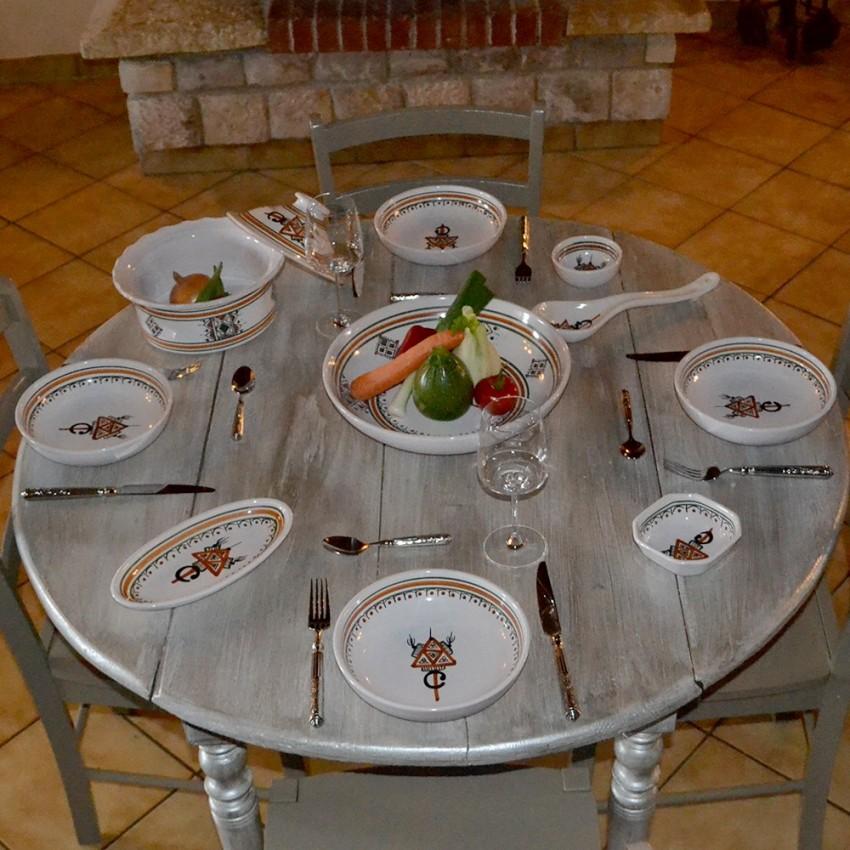 Service à couscous assiettes jattes Sahel beige - 8 pers