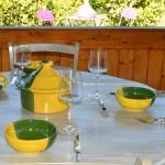 Service à soupe Kerouan jaune et vert - 12 pers