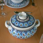 Service à soupe avec bols Bakir turquoise - 12 pers