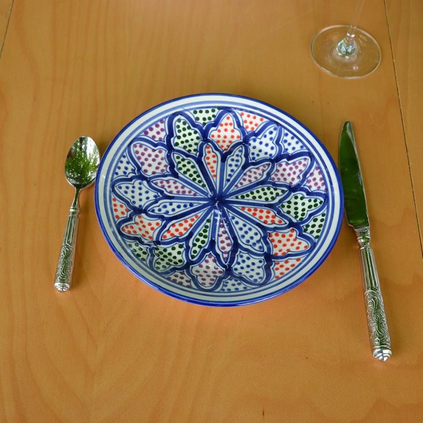 Assiette à entrée ou dessert Medina color - D 20 cm