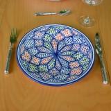 Assiette plate Medina color - D 28 cm