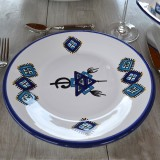 Lot de 6 assiettes plates Sahel bleu - D 28 cm