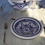 Service à couscous assiettes Tebsis Nejma bleu - 6 pers