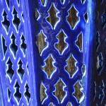 Applique murale Lanterne d'Ali Baba bleue