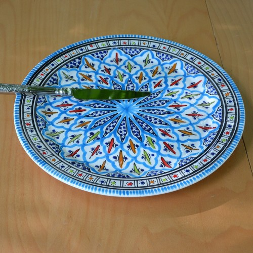 Service à dessert Jileni turquoise - 6 pers