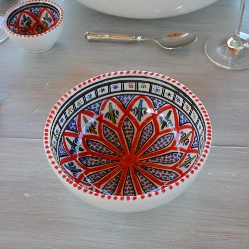 Service à salade de fruits Bakir rouge - 8 pers