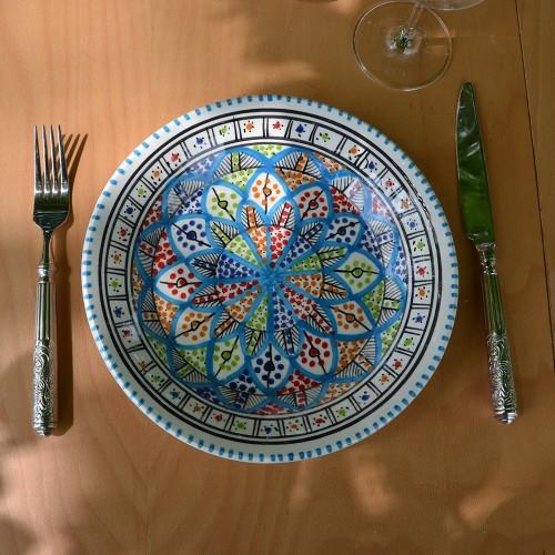 Lot de 6 assiettes plates Jileni Royal - D 28 cm