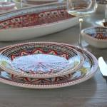 Service à dessert Bakir rouge - 6 pers