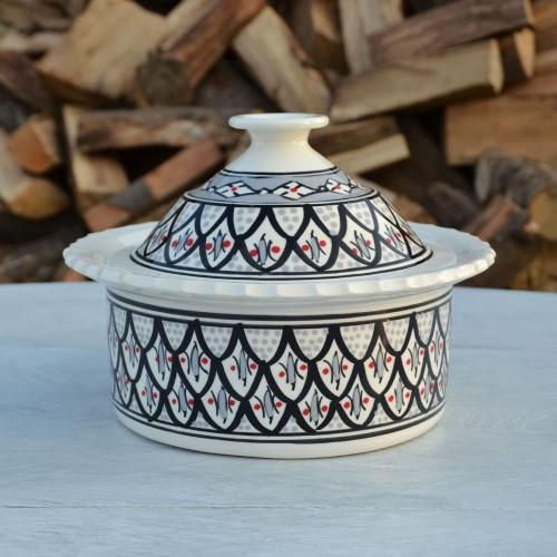 Cocotte Querouana Jileni gris - D 20 cm