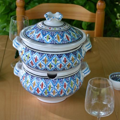 Couscoussier Bakir turquoise - Grand modèle
