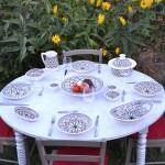 6 assiettes creuses Bakir gris - D 24 cm