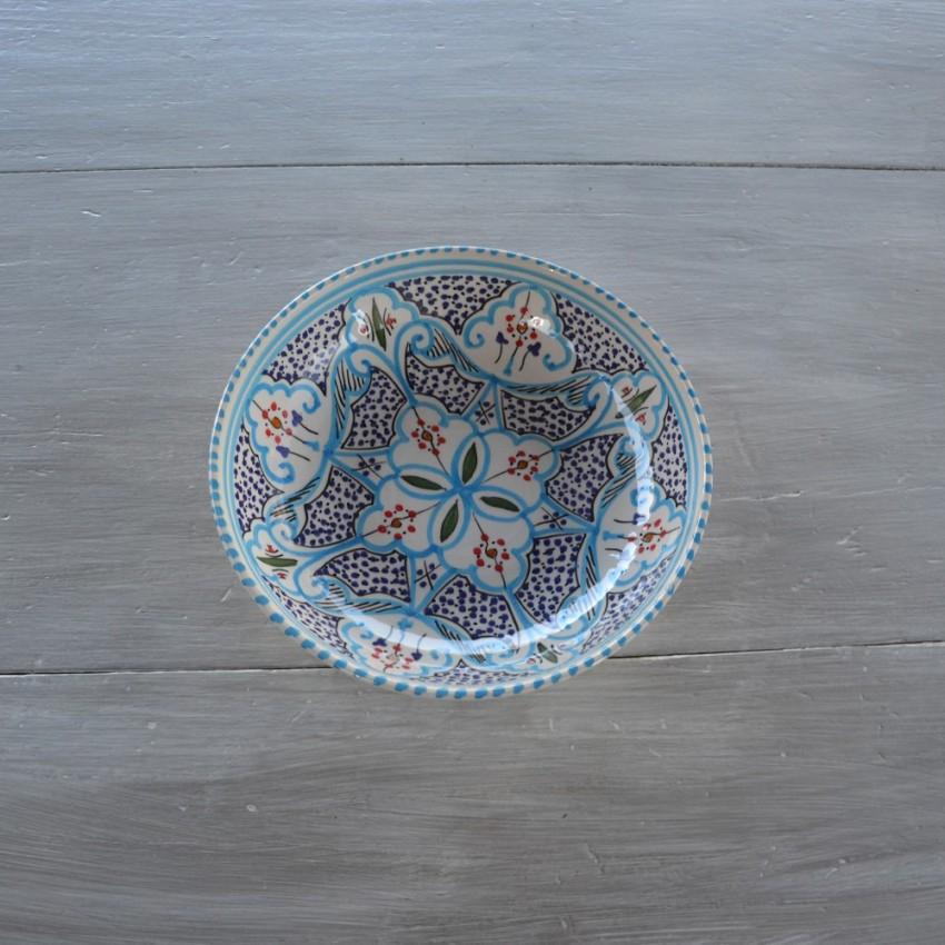 Jatte Marocain turquoise - D 20 cm