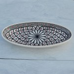Plat ovale Bakir gris - L 40 cm