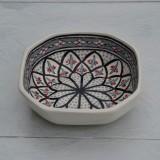 Plat octogonal Jileni gris - L 20 cm