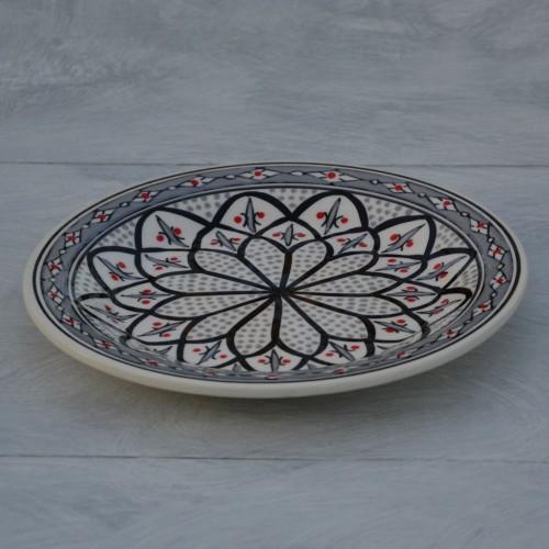 Assiette à entrée ou dessert Jileni gris - D 20 cm