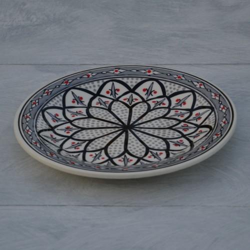 Lot de 6 assiettes à entrée ou dessert Bakir gris - D 20 cm
