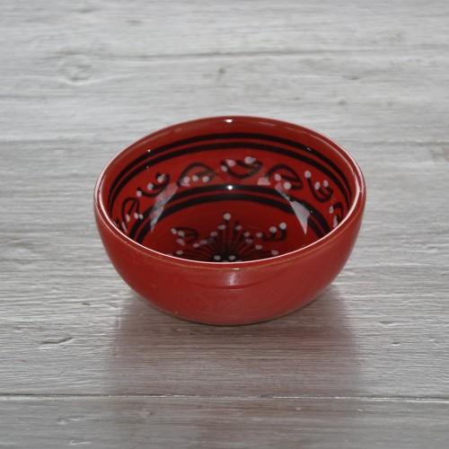 Bol Tatoué rouge - D 12 cm