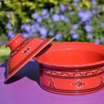 Cocotte Querouana Tatoué rouge - D 25 cm