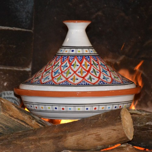 Tajine Jileni rouge - D 31 cm traditionnel