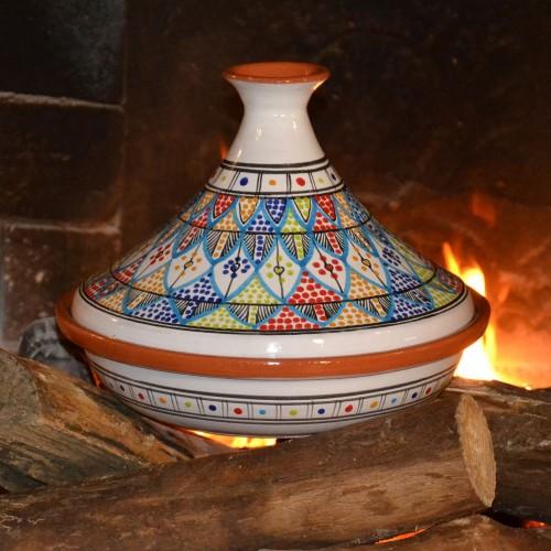 Tajine Bakir Royal Pâte à feu - D 31 cm