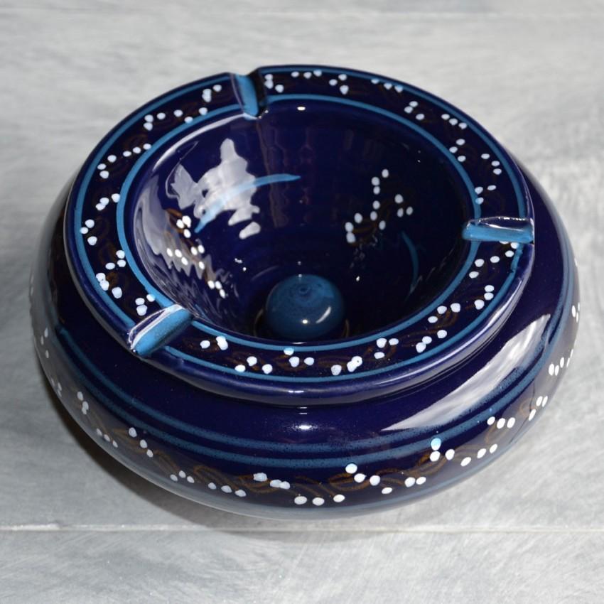 cendrier marocain tatou bleu nuit tr s grand mod le. Black Bedroom Furniture Sets. Home Design Ideas
