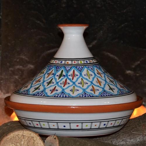 Tajine Jileni turquoise - D 31 cm traditionnel