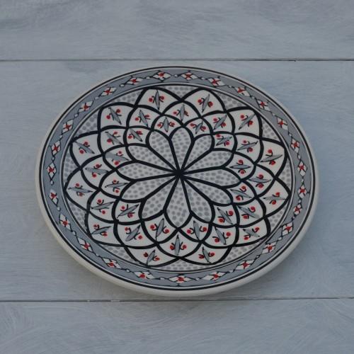 Assiette plate Bakir gris / 3 tailles D 20 - 24 - 28 cm