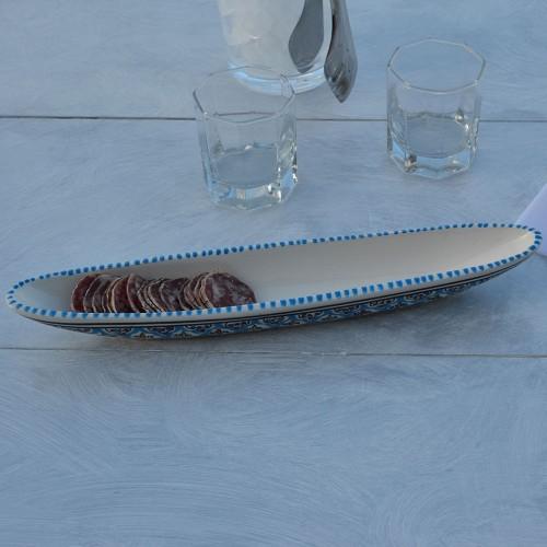 Plat baguette Bakir Turquoise L 38 cm