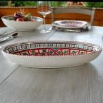 Plat ovale Bakir rouge - L 24 cm