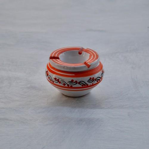 Cendrier anti fumée Tatoué orange et blanc - Mini modèle