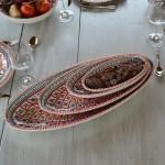 Plat ovale Bakir rouge - L 40 cm