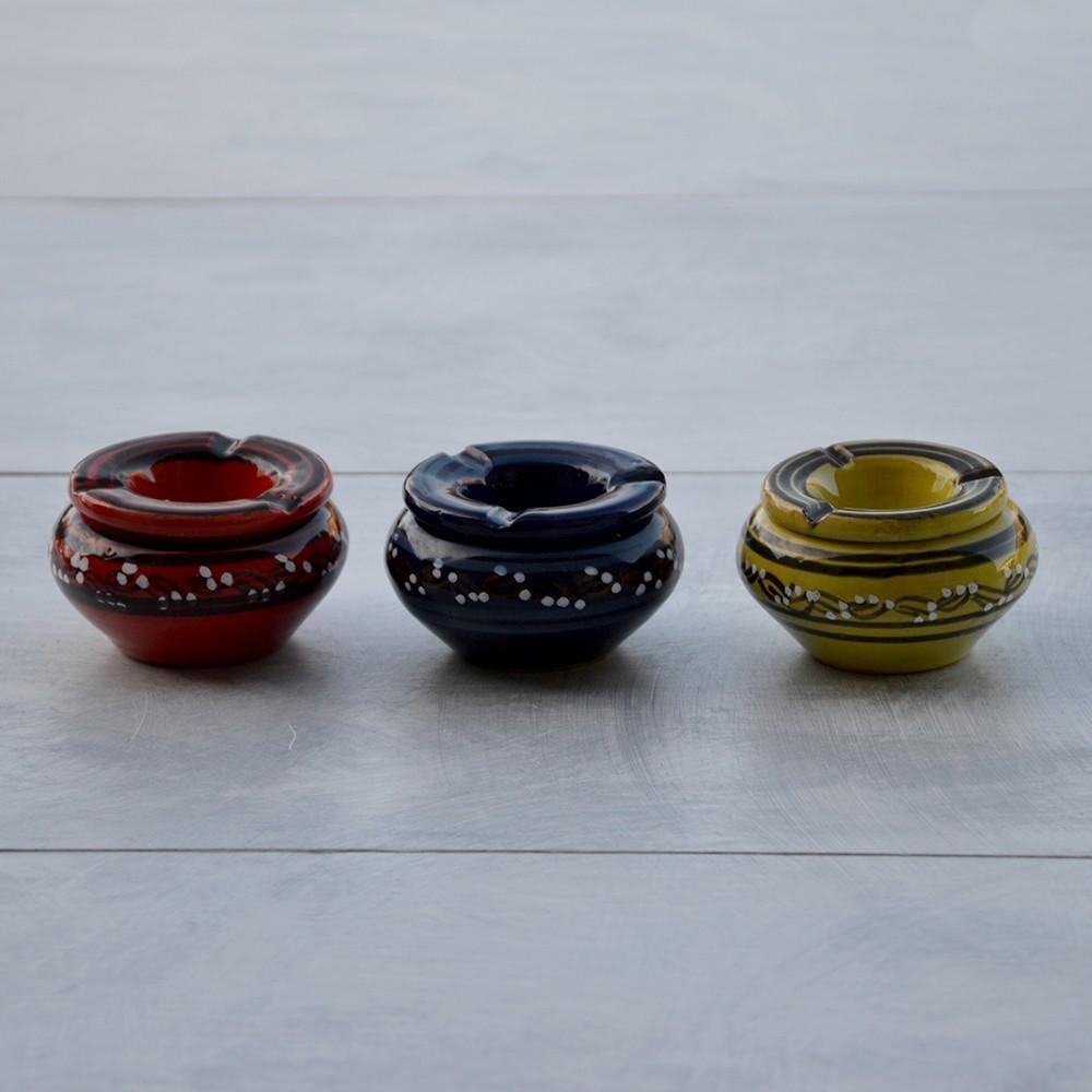 lot 3 cendriers anti fum u00e9e rouge  bleu et vert anis