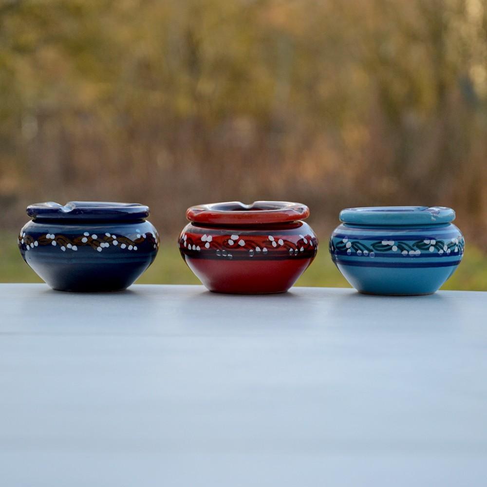 lot 3 cendriers anti fum u00e9e bleu clair  bleu fon u00e7 u00e9 et rouge
