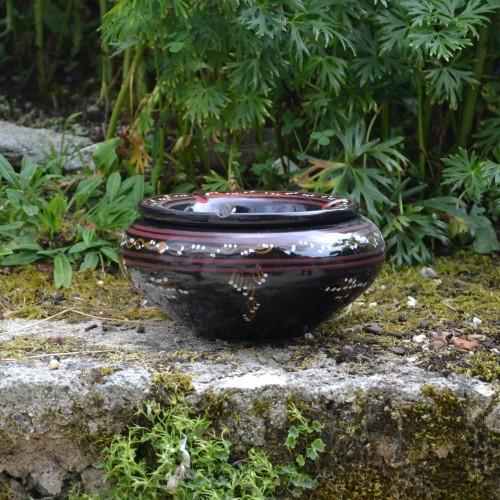 Cendrier oriental Tatoué Noir - Grand modèle