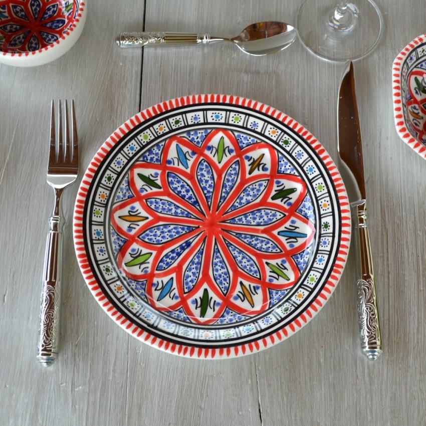 Assiette plate Bakir rouge - Diam 24 cm