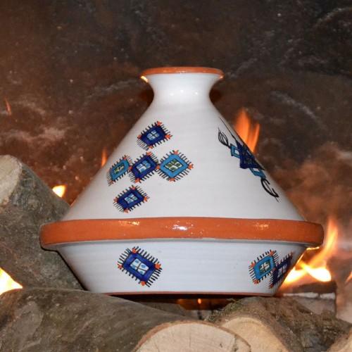 Tajine individuel de cuisson Sahel Bleu - D 23 cm