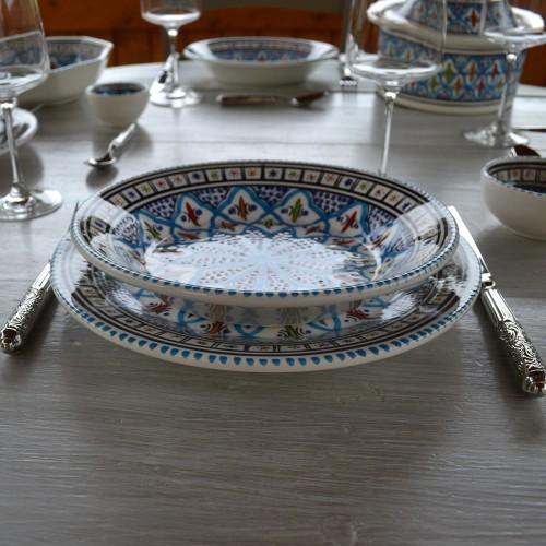 Service de table Bakir turquoise - 12 pers