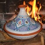 Tajine Marocain turquoise - D 30 cm traditionnel