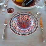 Assiette Tebsi Bakir rouge - Diam 23 cm