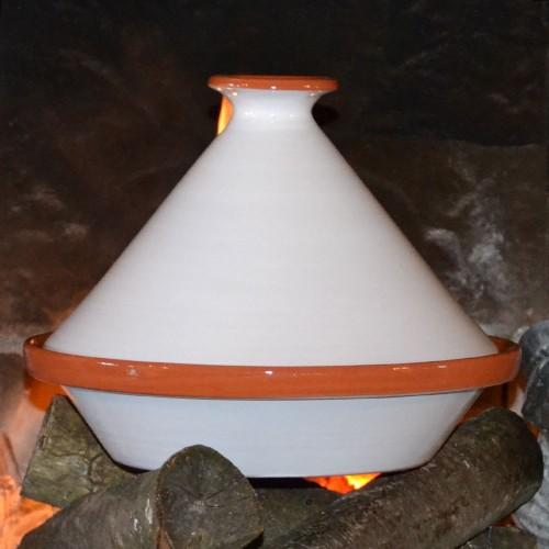 Tajine Spécial Feu Blanc - D 31 cm