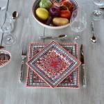 Assiette carrée Bakir rouge - Larg 19 cm